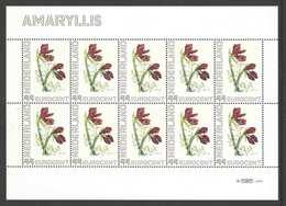 Nederland Postfris/MNH, Janneke Brinkman: Bloemen, Flowers, Fleures. Amaryllis (2) - Nederland