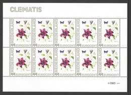 Nederland Postfris/MNH, Janneke Brinkman: Bloemen, Flowers, Fleures. Clematis - Nederland