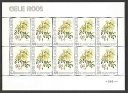 Nederland Postfris/MNH, Janneke Brinkman: Bloemen, Flowers, Fleures. Gele Roos - Nederland