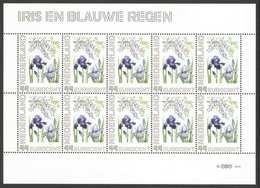 Nederland Postfris/MNH, Janneke Brinkman: Bloemen, Flowers, Fleures. Iris En Blauwe Regen - Nederland