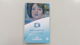 ITALY - COSTA - FAVOLOSA - AQUAMARINE - CRUISE CABIN KEY CARD - - Cartes D'hotel