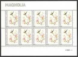 Nederland Postfris/MNH, Janneke Brinkman: Bloemen, Flowers, Fleures. Magnolia - Nederland