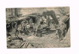 Yser 1914.Une Batterie Française De Mortiers De 28 Cm En Action Près De Nieuport. - Oorlog 1914-18