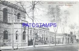 101557 CHILE SANTIAGO CUARTEL DE CAZADORES DEL GENERAL BAQUEDANO POSTAL POSTCARD - Chile
