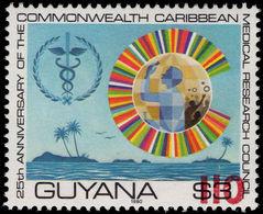 Guyana 1981 (14 Nov) 110c On $3 Caduceus Red Surcharge Unmounted Mint. - Guyana (1966-...)