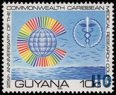 Guyana 1981 (14 Nov) 110c On 10c Caduceus Blue Surcharge Unmounted Mint. - Guyana (1966-...)
