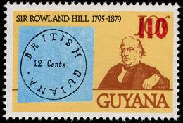 Guyana 1981 (14 Nov) 110c On 10c Rowland Hill Unmounted Mint. - Guyana (1966-...)