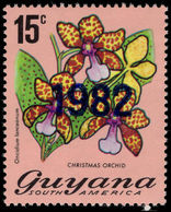 Guyana 1982 15c Christmas Orchid Perf 13 Unmounted Mint. - Guyana (1966-...)