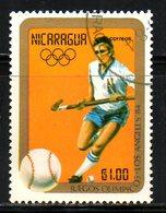 NICARAGUA. N°1344 Oblitéré De 1984. Hockey Sur Gazon Aux J.O. De Los Angeles. - Hockey (su Erba)
