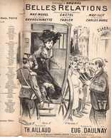 "CAF CONC PROSTITUTION PARTITION BELLES RELATIONS AILLAUD DAULNAY ILL GANGLOFF GAVROCHINETTE 1901 LGBT FEMME ""DU MONDE"" - Musique & Instruments"