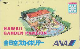 Télécarte Japon - HAWAII - Aviation ANA - Japan Airlines Phonecard Telefonkarte - USA Rel./ Avion  - Site 167 - Avions