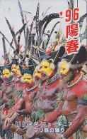 Télécarte Japon - PAPOUASIE NELLE GUINEE - PAPOU & MASQUE - PAPUA NEW GUINEA - MASK Japan Phonecard - 40 - Culture