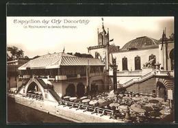 AK Paris, Exposition Des Arts Décoratifs 1925, Le Restaurant De Grande-Bretagne - Esposizioni