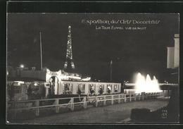 AK Paris, Exposition Des Arts Décoratifs 1925, La Tour Eiffel, Vue De Nuit - Esposizioni