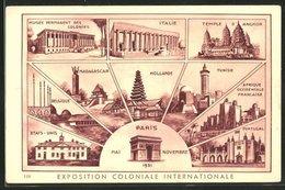 AK Paris, Exposition Coloniale Internationale 1931, Musée Permanent Des Colonies, Italie, Madagascar, Hollande, Tunis - Expositions