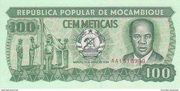 MOZAMBIQUE 100 METICAIS 1989 P-130c UNC [MZ215d] - Mozambique