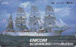 Télécarte Japon - BATEAU VOILIER - SAILING SHIP Japan Phonecard - SEGEL SCHIFF Telefonkarte - 232 - Bateaux