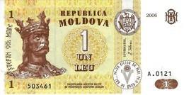MOLDOVA 1 LEU 2006 P-8g UNC [MD108g] - Moldova