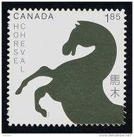 CANADA 2014. # 2701I, LUNAR YEAR : HORSE  DIE CUT FROM QUARTELY PACK - Carnets