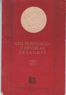 LOS PERIODICOS Y REVISTAS DE LA URSS PARA 1955-MEZHDUNARODNAIA KNIGA, MOSKU- 54 PAG. EN ESPAÑOL Y RUSO-RARE- BLEUP - Books, Magazines, Comics
