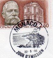 Monaco > FDC N° 1532(22-5-86) - FDC