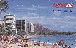 Télécarte Japon / 290-48810 - JTB - HAWAII Plage Beach / Site USA - Japan Phonecard Telefonkarte - 422 - Landschappen