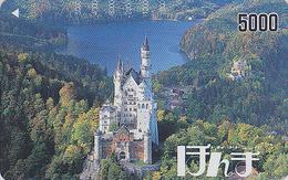 Carte Prépayée Japon - CHATEAU De NEUSCHWANSTEIN / Allemagne - CASTLE In GERMANY Japan Prepaid Card - Paysages