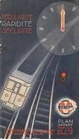 """Ancien Plan Du METRO  """" La Compagnie Du Chemin De Fer METROPOLITAIN """"  De PARIS   F. Lagoutte De 1938 - Europe"""