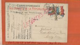CARTE EN FRANCHISE  8 Corps D'Armée N°46 Hopital Temporaire CLUNY  Cachet à Date 1915 Oct 2018  055 - Marcophilie (Lettres)