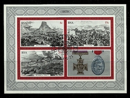 South Africa - 1979 Centenary Of The Zulu War MS CTO - South Africa (1961-...)