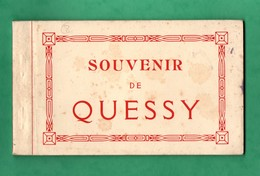 02 Aisne Quessy Ecole Carnet De 8 Cartes  Ateliers Depot Chemin De Fer Train Ecole Stade Cinema Centre D 'hygiene - France