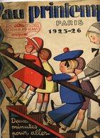 """JOUETS 1925-26 - Grand CATALOGUE """"AU PRINTEMPS Paris"""" - 44  Pages - 3 Scans - Advertising"""