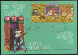 Macau Macao Chine FDC 1997 - Artes Marciais - Kung Fu - Judo - Karaté - Martial Arts - MNH/Neuf - FDC