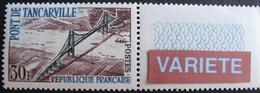 R1718/22 - 1959 - PONT DE TANCARVILLE - N°1215a BdF NEUF** - VARIETE ➤ Inscriptions En Bleu Clair - Cote : 60,00 € - Errors & Oddities