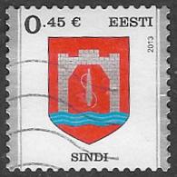 Estonia 2013 Coat Of Arms, Sindi 45c Good/fine Used [38/31496/ND] - Estonia