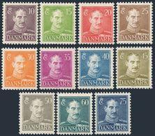 Denmark 280-287A,MNH.Michel 269-277,292-293. King Christian X,1942-1946. - 1913-47 (Christian X)