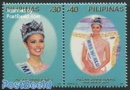 Philippines 2014 Miss World 2v [:], (Mint NH), History - Women - Performance - Miss World - Philippines