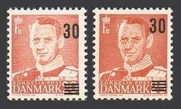 Denmark 357-358,MNH.Michel 360-361. King Frederik IX,new Value 1955-1956. - Unused Stamps