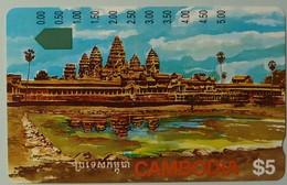 CAMBODIA - Telstra - $5 - Anritsu - Angkor Ruins - Mint - Cambodia