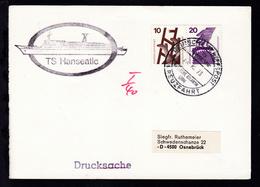 DEUTSCHE SCHIFFSPOST TS HANSEATIC DEUTSCHE ATLANTIK LINIE KREUZFAHRT 25.10.73  - Deutschland