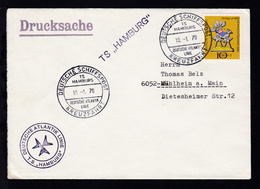 DEUTSCHE SCHIFFSPOST TS HAMBURG DEUTSCHE ATLANTIK LINIE KREUZFAHRT 10.1.70 + - Deutschland