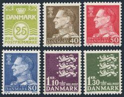 Denmark 395,398,416-419,MNH.Mi 427/434. Numeral,King Frederik IX,State Seal,1965 - Denmark