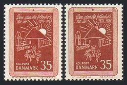 Denmark 411 2 Var,MNH.Mi 420x-420y. Royal Decrees For The Public School System. - Denmark