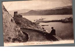 Cpa 20 2B Ile Rousse La Tour Et Vue Sur Le Port Déstockage à Saisir - Otros Municipios
