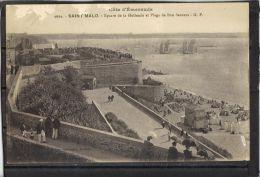 3547.  SAINT MALO . SQUARE DE LA HOLLANDE ET PLAGE DE BON SECOURS .G. F. . RECTO/VERSO . ANIMEE - Saint Malo