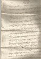 GENERALITE DE BORDEAUX , 1757 : ACTE DE MARIAGE ..... - Manuscrits