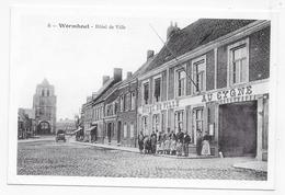 (RECTO / VERSO) WORMHOUT - N° 6 - HOTEL DE VILLE - RETROSPECTIVE - REPRODUCTION SUR CPM GF - Wormhout