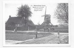 (RECTO / VERSO) WORMHOUT - N° 9 - MOULIN DE LA PREVOTE DE SAINT WINOC - RETROSPECTIVE - REPRODUCTION SUR CPM GF - Wormhout