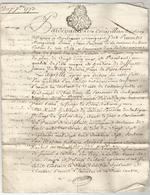 GENERALITE DE BORDEAUX , 1773 , CONTRAT ..... - Manuscrits
