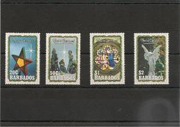 BARBADE :   NOËL Année 1990 N°Y/T: 800/803** - Barbades (1966-...)